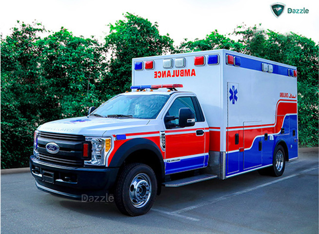 ford   advanced life support ambulance dazzle uae